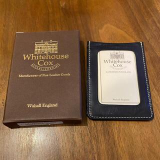 ホワイトハウスコックス(WHITEHOUSE COX)のホワイトハウスコックス パスケース ブライドル ネイビー(名刺入れ/定期入れ)