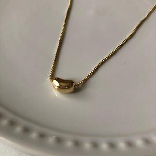 SHIPS - N09ゴールド ビーンズネックレス silver 925  シンプルアクセサリー