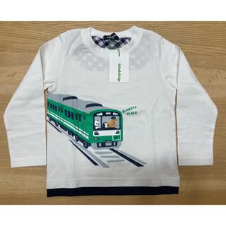 クレードスコープ(kladskap)の【新品】クレードスコープ  ロンT 電車 パンダ 恐竜 100 白(Tシャツ/カットソー)