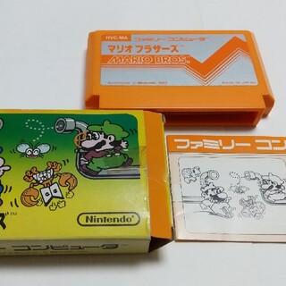 ニンテンドウ(任天堂)の☆ファミコン マリオブラザーズ 箱説つき 小箱☆(家庭用ゲームソフト)