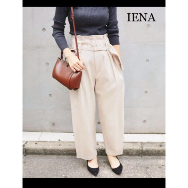 IENA(イエナ)のIENA 毛100%暖かい♪ ボタニーハイウエストパンツ サイズ40 イエナ レディースのパンツ(カジュアルパンツ)の商品写真