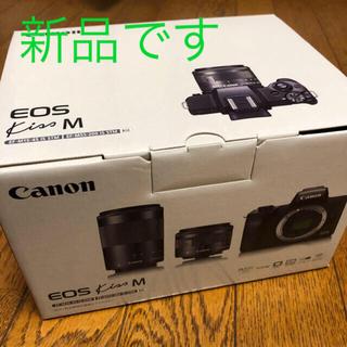 Canon - 【新品】Canon EOS Kiss M ダブルズームキット ブラック
