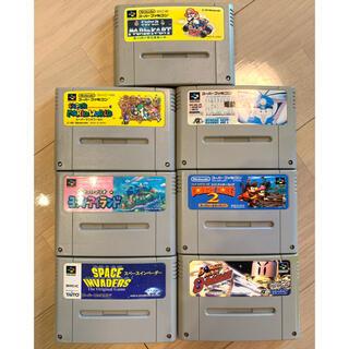 ニンテンドウ(任天堂)のスーパーファミコン ソフト7本ケース付き(家庭用ゲームソフト)