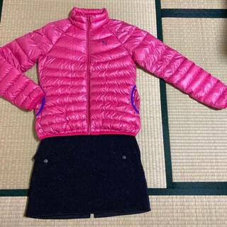 アディダス(adidas)の冬ゴルフウェア2点セット Mピンク ネイビー(ウエア)