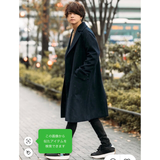 HARE - LIDnM Super110's BEAVER OVER COAT ネイビー M