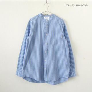 ジムフレックス(GYMPHLEX)のジムフレックス ストライプノーカラーシャツ(シャツ)