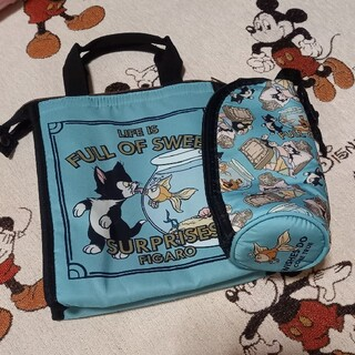 ディズニー(Disney)のディズニー フィガロ&クレオ ランチトートバック(弁当用品)