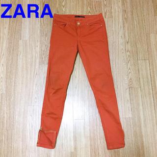 ザラ(ZARA)のZARA BASIC ストレッチ ジーンズ オレンジ スキニー(デニム/ジーンズ)