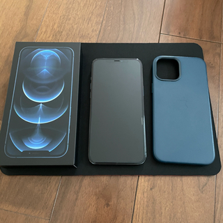 iPhone - iPhone12 Pro Max SIMフリー 256GB 純正レザーケース付き