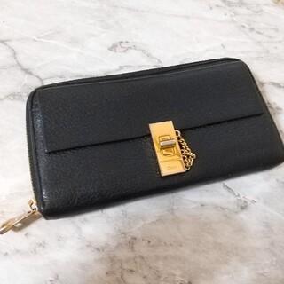 Chloe - クロエ ドリューラウンドファスナー長財布 美品  ブラック 黒