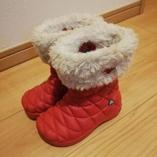 クロックス(crocs)のcrocs 女の子用ボア付ブーツ16.5(長靴/レインシューズ)