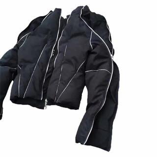Rick Owens -  zip ブルゾン ブラック 中綿 ダウンジャケット