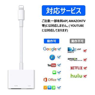 新品 Lightning adapter iPhone iPad HDMI変換機(映像用ケーブル)
