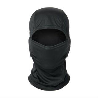 ブラック フェイスマスク 3wayマスク ネックウォーマー 目出し帽(ネックウォーマー)