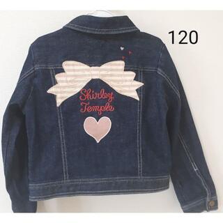 シャーリーテンプル(Shirley Temple)のリボンデニムジャケット 120 シャーリーテンプル(ジャケット/上着)