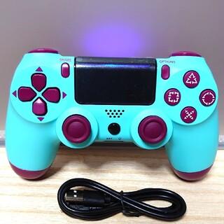 プレイステーション4(PlayStation4)のプレステ4 ワイヤレス コントローラ 人気 グリーン ベリー 新品 ps4(その他)