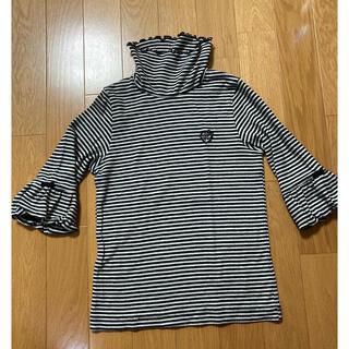 メゾピアノ(mezzo piano)のメゾピアノ タートルネック七分袖Tシャツ 130センチ(Tシャツ/カットソー)