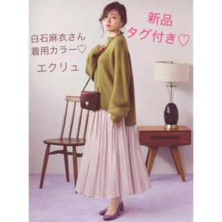【新品タグ付き】グレイル♡ジーユー♡ユニクロ♡サテン♡プリーツ♡ロングスカート
