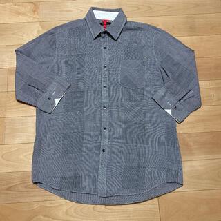 チャオパニック(Ciaopanic)の七分袖チェックシャツ メンズ Lサイズ(シャツ)