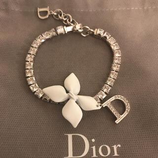 Dior - Dior ディオール ホワイトフラワーモチーフブレスレット