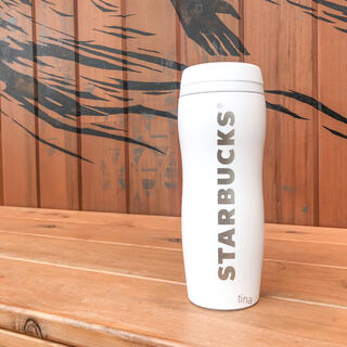 スターバックスコーヒー(Starbucks Coffee)のスターバックス カーヴドステンレスボトル タンブラー 白 スタバ マットホワイト(タンブラー)