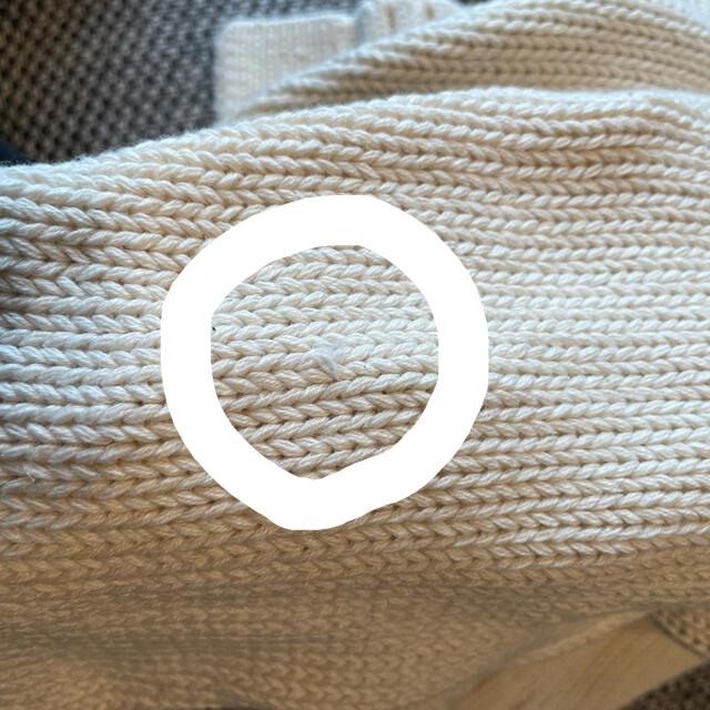新品 ebure エブール コットンカシミアローゲージ 深Vネックカーディガン レディースのトップス(カーディガン)の商品写真