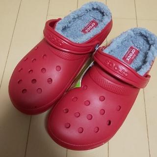 crocs - crocs モコモコ サンダル 2