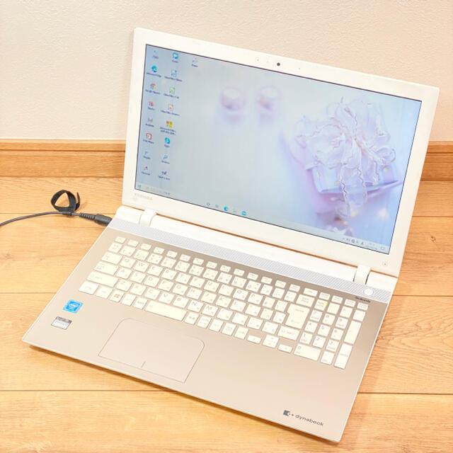 東芝(トウシバ)の薄型ノートパソコン⭐️カメラ・無線マウス付き⭐️届いてすぐ使えるノートパソコン スマホ/家電/カメラのPC/タブレット(ノートPC)の商品写真