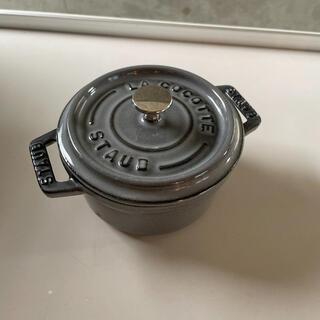 ストウブ(STAUB)のストウブ  10cm ピコ・ココット ラウンド グレー(鍋/フライパン)