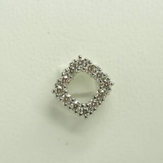 天然ダイヤモンド ホワイトゴールド ペンダントトップ K18WG