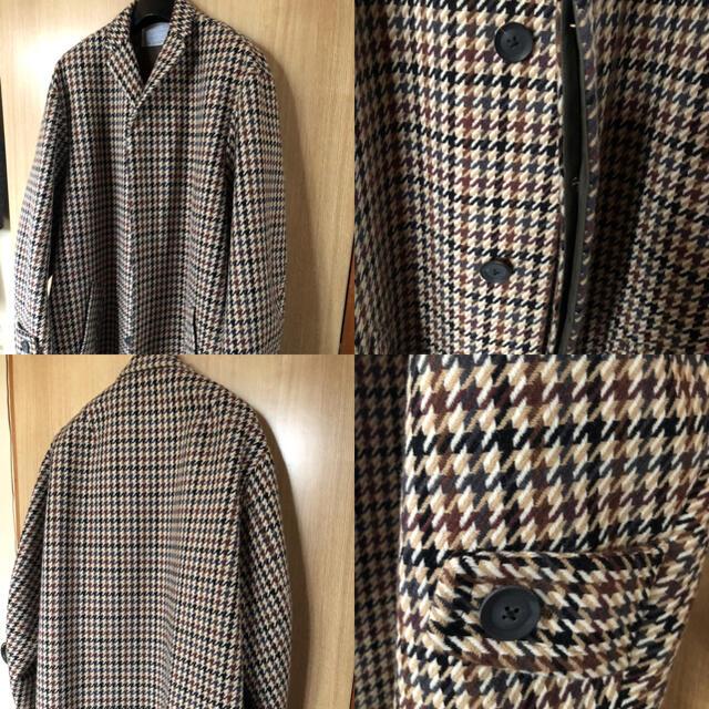 kolor(カラー)のKY様お取り置き Kolor BEACON 千鳥格子コート メンズのジャケット/アウター(チェスターコート)の商品写真