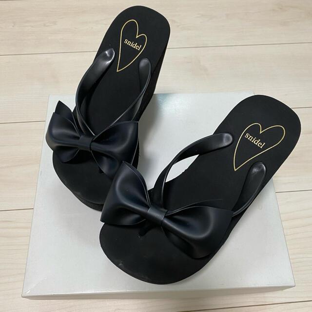 snidel(スナイデル)のsnidel 厚底 ビーチサンダル レディースの靴/シューズ(ビーチサンダル)の商品写真