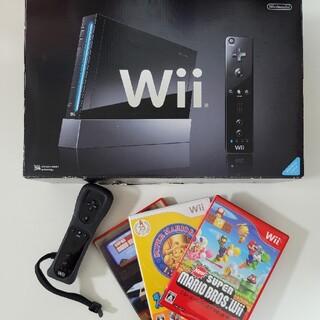 ニンテンドウ(任天堂)のNintendo Wii 本体 RVL-S-KJ(家庭用ゲーム機本体)