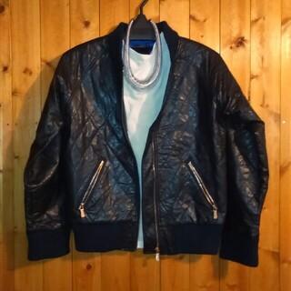 アズールバイマウジー(AZUL by moussy)の皮ma1ジャケット(ノーカラージャケット)