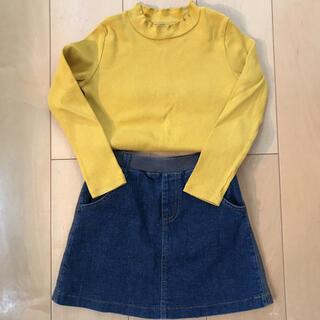ユニクロ(UNIQLO)の女の子 110〜120センチ 上下セット(Tシャツ/カットソー)