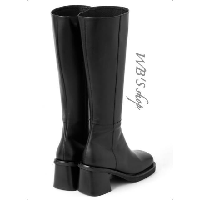 GRL(グレイル)のスクエアトゥロングブーツ レディースの靴/シューズ(ブーツ)の商品写真