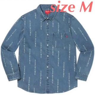シュプリーム(Supreme)のSupreme Logo Stripe Jacquard Denim Shirt(シャツ)