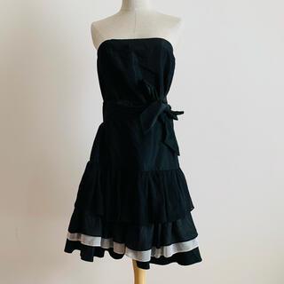 ザラ(ZARA)の(未使用美品)ZALA BASIC 黒ドレス(ミニドレス)