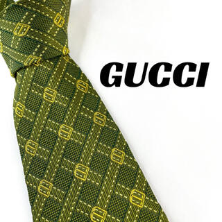 グッチ(Gucci)の【1683】未使用に近い!GUCCI ネクタイ グリーン系 ブランド(ネクタイ)