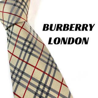 バーバリー(BURBERRY)の【1685】美品!BURBERRY LONDON ネクタイ チェック柄(ネクタイ)