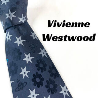 ヴィヴィアンウエストウッド(Vivienne Westwood)の【1686】ヴィヴィアンウエストウッド ネクタイ ネイビー オーブ柄(ネクタイ)