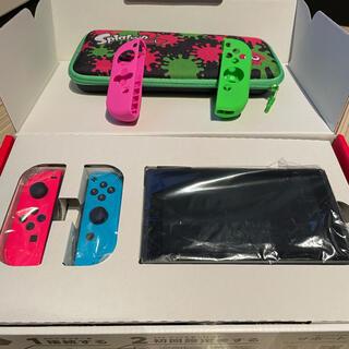 ニンテンドースイッチ(Nintendo Switch)の任天堂スイッチ ネオンピンク×ブルー  リングフィットアドベンチャー付きおまけ(家庭用ゲーム機本体)