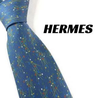 エルメス(Hermes)の【1688】良品!HERMES エルメス ネクタイ ネイビー系(ネクタイ)