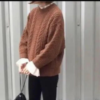 BEAUTY&YOUTH UNITED ARROWS - roku 6 CABLE HIGH NECK KNIT ケーブルニット 茶色