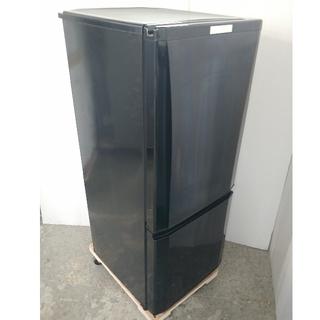 ミツビシ(三菱)の冷蔵庫 ブラック 三菱 ラウンドカットデザイン LED ガラス棚 2019年(冷蔵庫)