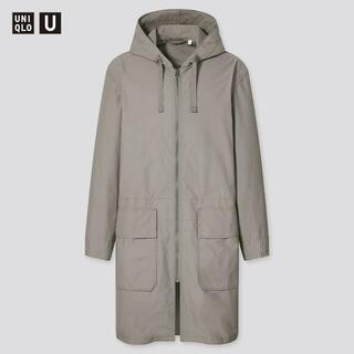 ユニクロ(UNIQLO)の【新品・未使用】UNIQLO U フーデッド コート GRAY:XL(モッズコート)