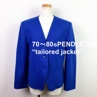 ペンドルトン(PENDLETON)のレディース 70s ペンドルトン ノーカラージャケット ヴィンテージ 古着(ノーカラージャケット)