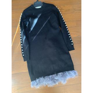 Chesty - Chesty(MissAdora)袖パール裾フェザーニットワンピース