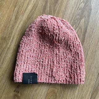 アクネ(ACNE)のパスカルマリエデマレ ビーニー帽 ピンク(ニット帽/ビーニー)