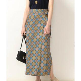 シップス(SHIPS)の美品2020年購入◆SHIPS ラップスカート黄色 Sサイズ(ロングスカート)